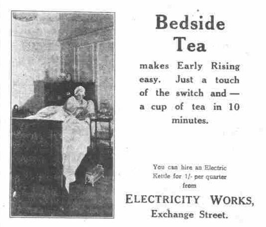 Bedside Electric Kettle, in the Bucks Herald, June 19 1926