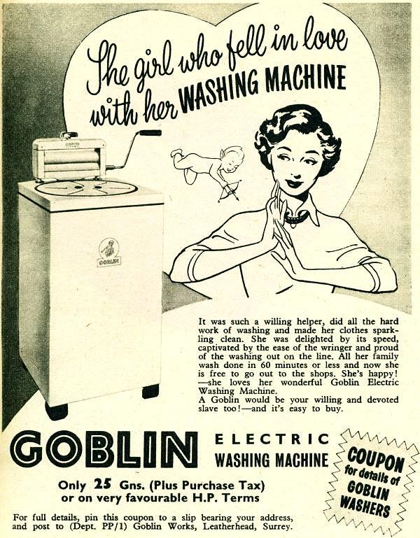 1955 Goblin Washing Machines