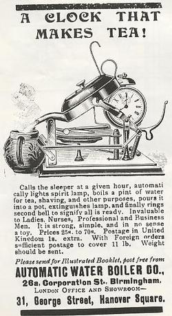Automatic Water Boiler Company Advert