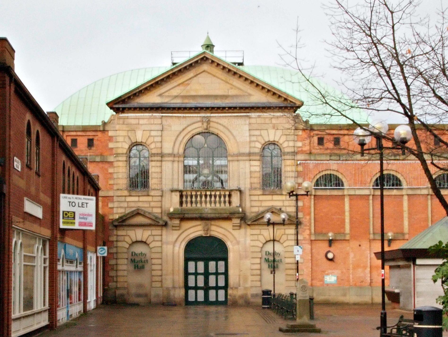Derby Market Hall by David Hallam Jones via Geograph