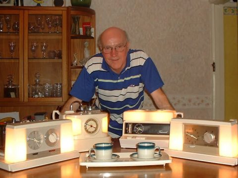 Doug Fennell and some of his Teasmade Collection