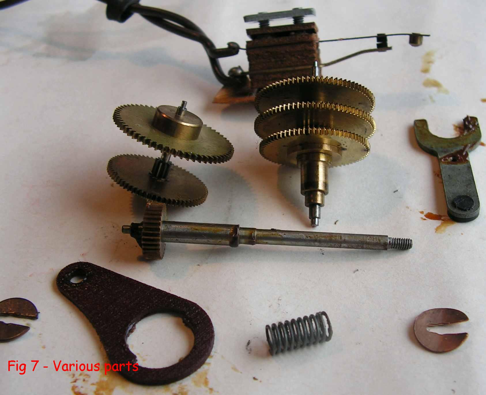 Fig 7 - various parts removed
