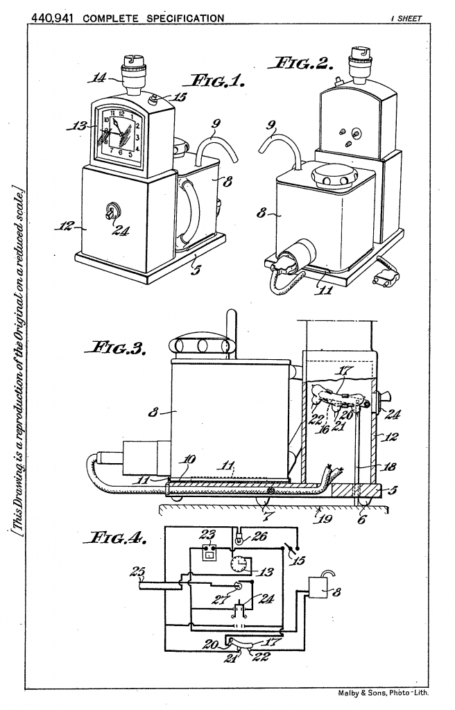 George Absolom's Patent for Hawkins Tecal GB440941