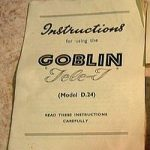 Goblin D24 Tele-T instructions cover