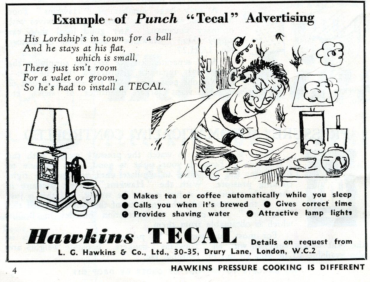 Hawkins Tecal 1200 Punch advert Sep 1952