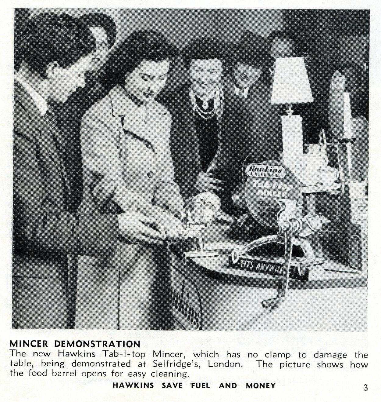 Hawkins Tecal 1200 on display at Selfridges Mar 1952