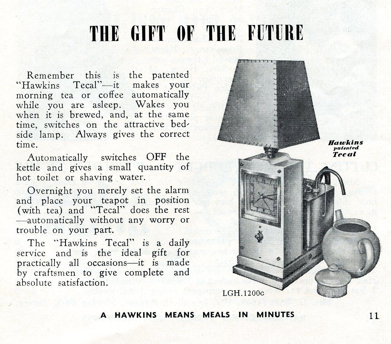 Hawkins Tecal 1200c advert Mar 1952