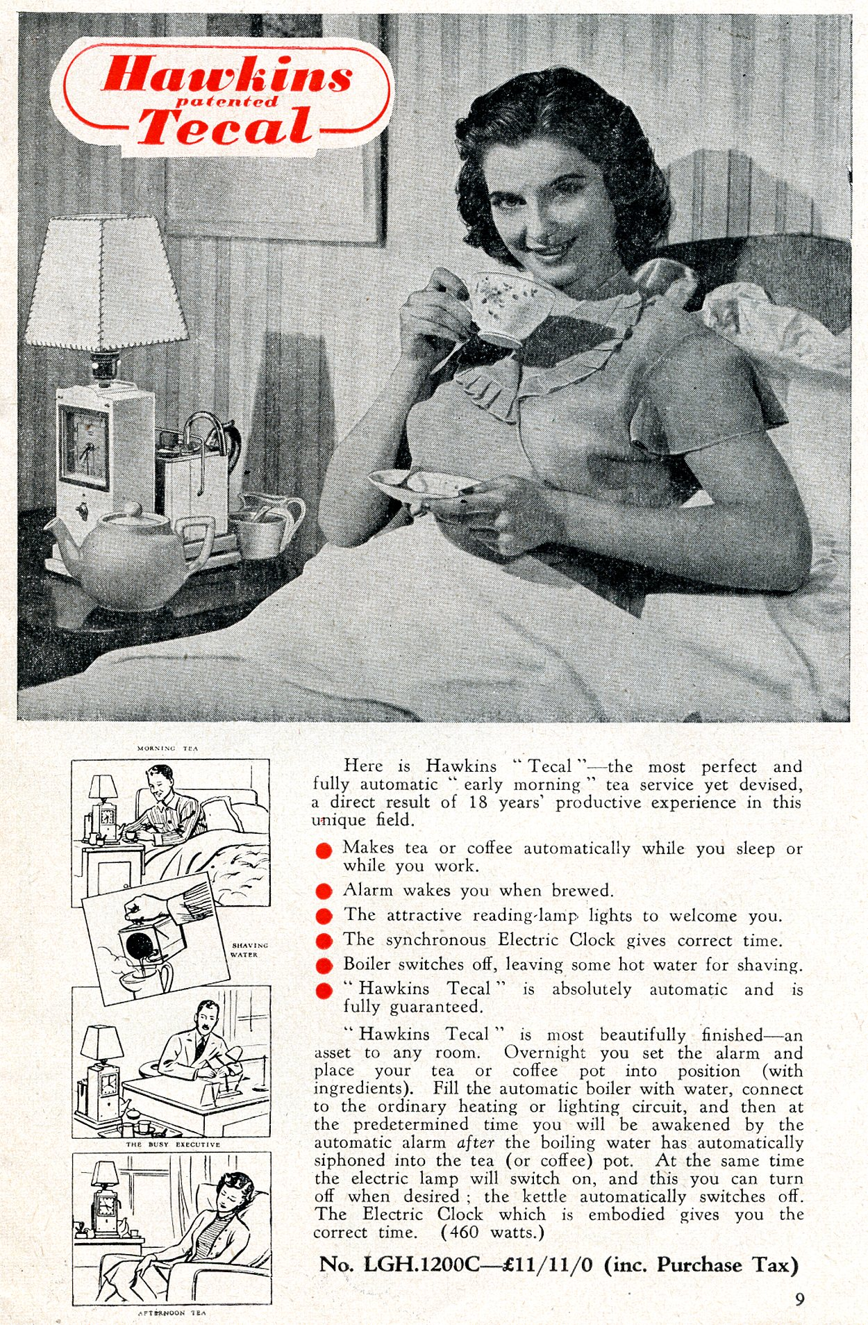 Hawkins Tecal 1200c advert Silver Lining Dec 1952