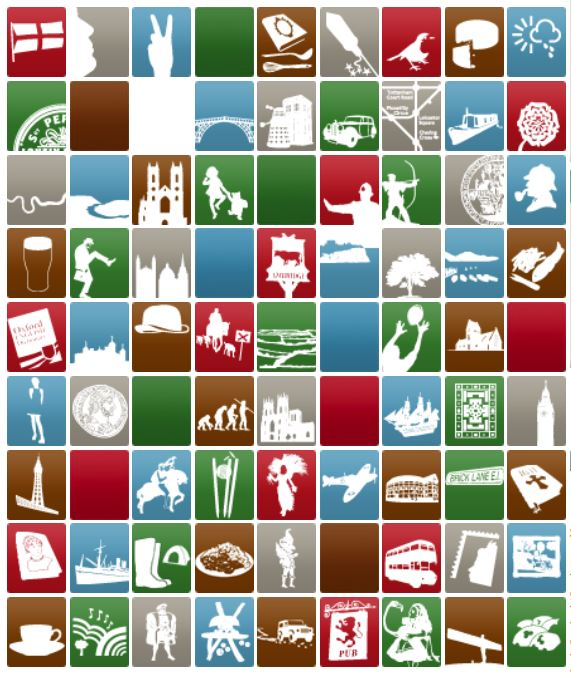 Icons of England Graphic