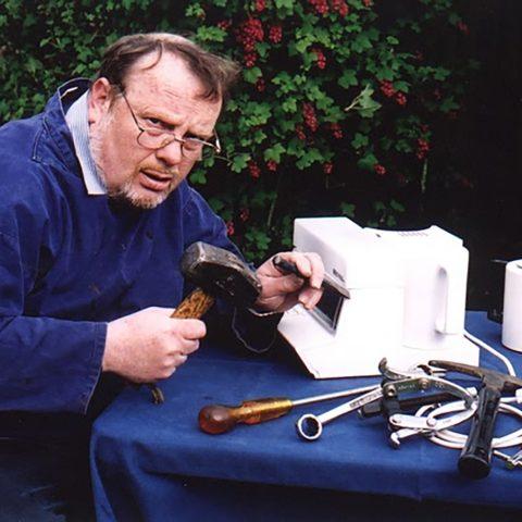 John 'fixing' a teasmade