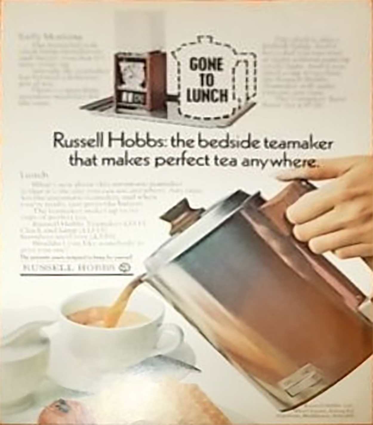 Russell Hobbs 6501 Automatic Electric Teamaker Set Advert 1971