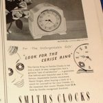 Smiths Smiths Sectric Autocal Clock 1950 Advert